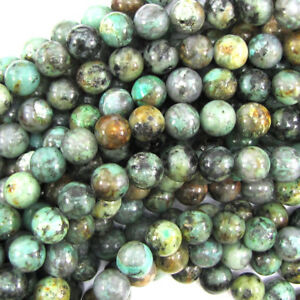 African-Turquoise-Round-Beads-Gemstone-15-5-034-Strand-4mm-6mm-8mm-10mm-12mm-14mm