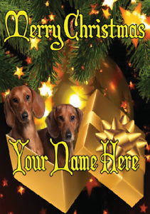 Merry Christmas Puppies.Details About Dachshund Puppies Dogs Present Nxc26 Merry Christmas Personalised Greeting Card