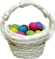 Dollhouse Miniature Easter Eggs In A Green Basket By Bright Delights