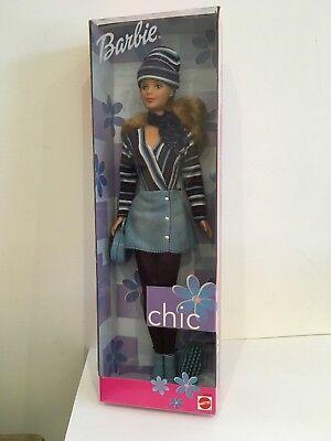 1999 Barbie Chic Blu Cordoroy Bambola (lotto 2)- Sconti Prezzo