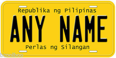 Colombia Any Name Number Text Novelty Auto License Plate C01