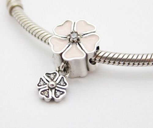 Daisy Flower Charm 925 STERLING SILVER EUROPEAN BEAD CHARM FIT BRACELET