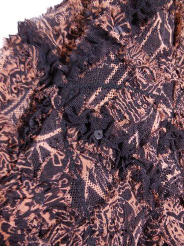 chiaro con Chicos 14 Misses Blazer 3 16 marrone e nera abbellito di d seta 3 paillettes zH1FHwRq