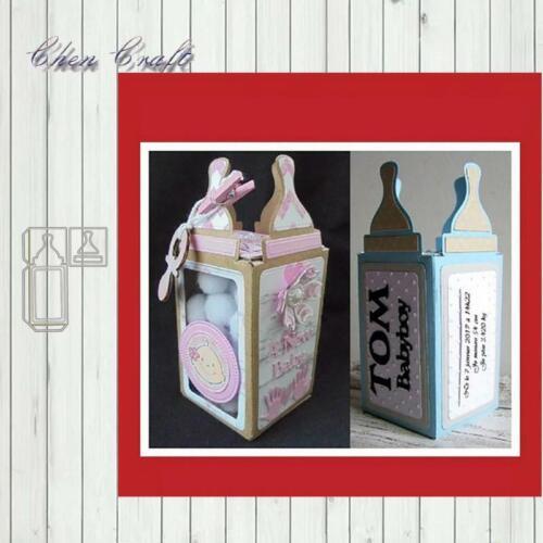 Metal Cutting Dies Baby Pacifier Bottle Stencils Ribbon Diy Scrapbooking Die Cut