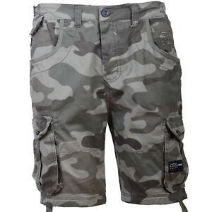 Hombre-Crosshatch-Militar-Combate-Pantalones-Cortos-Camuflaje-Ryehill
