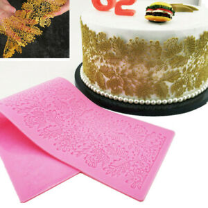 Edible-Cake-Silicone-Fondant-Impression-Lace-Mat-Moulds-Sugarcraft-Trimming-Leaf