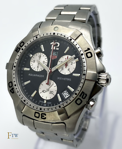 Tag Heuer Aquaracer Chronograph Gents Watch Black Dial CAF1110 41mm