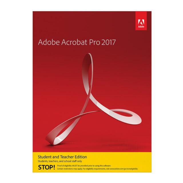 Adobe Acrobat Pro 2017 für Windows [Student & Teacher]