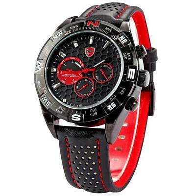 New SHARK Army Waterproof Black Steel Date Day Analog Men's Sport Quartz Watch