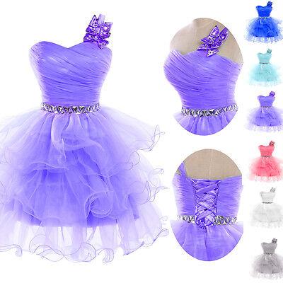 Grace Karin One Shoulder Formal Party Evening Ball Gown Short Graduation Dress