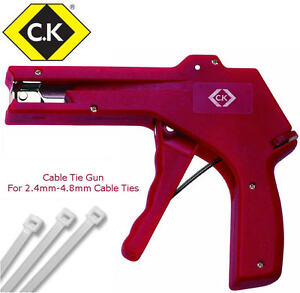CK Cable/Zip Tie Fastening Gun Tensioning Tool For 2.4mm-4.8mm Wire ...