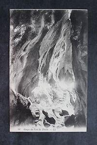 Tarjeta-postal-antigua-Gargantas-el-puente-de-la-Diable