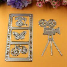 Cámara de película de película de Metal Corte Die Set Cortador De Bicicleta Mariposa de teléfono DC034