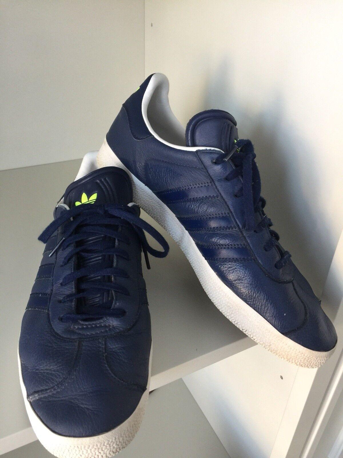 ADIDAS Originals Gazelle bluee Leather Men's Running shoes Size USA 10