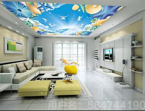 3D Shells Pattern Cloud 74 Ceiling Wall Paper Print Wall Indoor Wall Murals CA