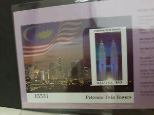 1999-Malaysia-Petronas-Twin-Tower-KLCC-Imperf-M-S-MNH-Rare
