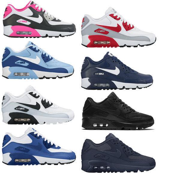 Nike Air Max 90 1 2016 Command Mesh Leather (GS) Sneaker Schuhe Neu