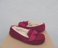 Ugg Hazen Bougainvillea Suede/ Sheepskin Bow Moccasin Slippers, Us 9/ Eu 40