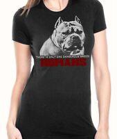 Ban Stupid Humans Women's Black Pitbull Shirt By American Bully Supply Co Sm-2x