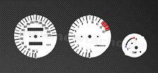 Yamaha FZR 1000 3le EXUP Tachoscheiben Tacho FZR1000 gauge dials plates