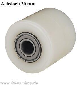 Hubwagenrad-82-mm-Polyamid-Breite-65-mm-Achsloch-20-mm-ohne-Bereifung-Rad-Rolle