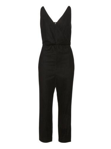 6 Black 149 Sz Velvet Jumpsuit Cropped Republic 00 Banana 104220 0Tq6F
