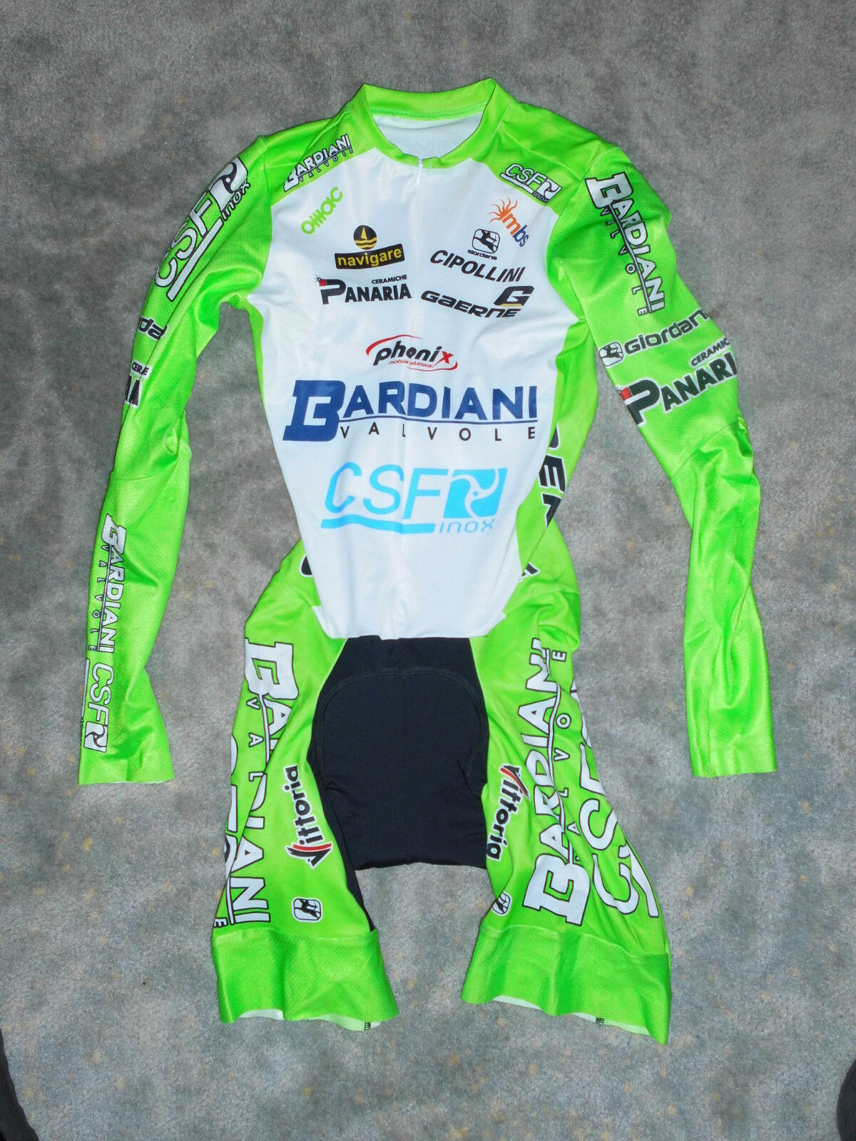 Rarität Giordana Team Bardiani CSF Aero Zeitfahranzug   Skinsuit