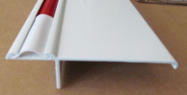 """60"""" White Aluminum Vinyl Insert Type T Molding Slide Out Trim RV Trailer 4 5/16"""""""