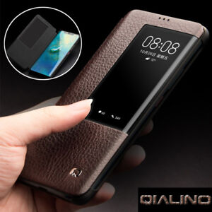 sports shoes 6a199 c4803 Details about QIALINO Flip Genuine Leather Smart Window View Case Cover For  Huawei Mate 20 Pro