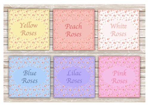 ADD TEXT TO FLORAL COTTAGE SIGN Home Office Blank Metal Room Rainbow Rose Plaque
