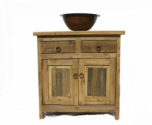 rustic reclaimed wood bathroom vanity 30 wide ebay rh ebay com bathroom vanity 30 inch canada bathroom vanity 30 x 16