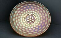 Carnival Glass Westmoreland Pearly Dots Marigold Iridescent 8.75 Inch Bowl VG