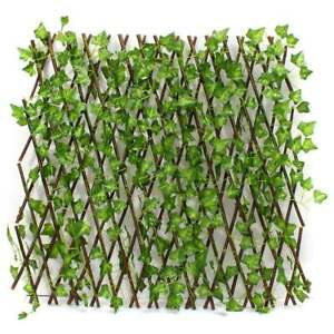 Image Is Loading Expandable Artificial Faux Ivy Leaf Hedge Panels On