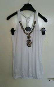 Atmosphere-White-Cotton-Evening-Vest-Top-Bronze-Beaded-Detail-Size-12