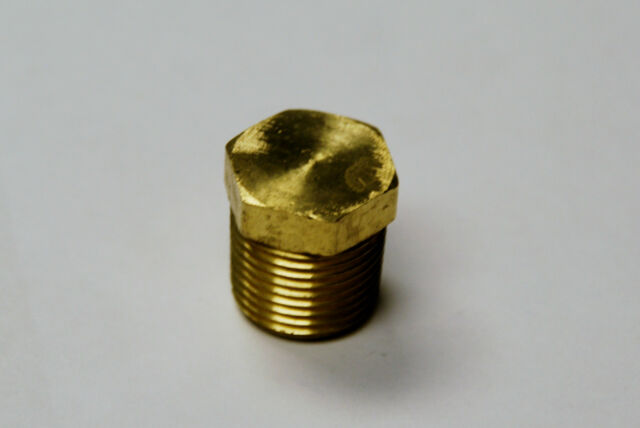 Brass Fittings: Brass Plug Hex Head Size 1/2 QTY. 8