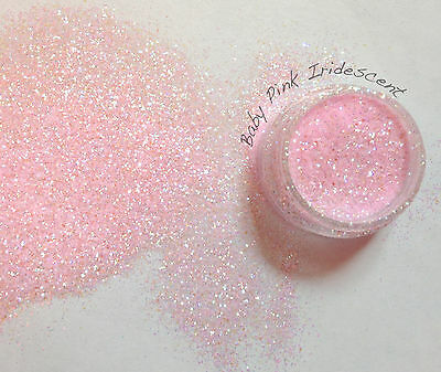 """Rockstar Toes / Nail Glitter 40g  Extra Fine .008"""" / .015""""/ Baby Pink Iridescent"""