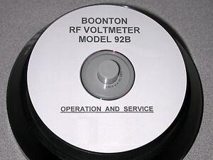 boonton 92b rf voltmeter service and operation manual ebay rh ebay com