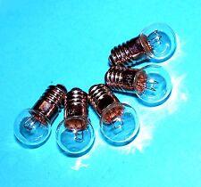 5x E5,5 Mini Miniatur Lämpchen Glühlampe 19V 60mA  1W Kugel 8mm