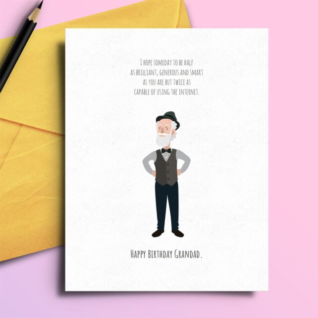 Funny Birthday Card Cheeky Comedy For Grandad Granfather Sale Online