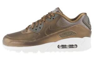 Détails sur Femme Nike Air Max 90 PRM Bronze Marron Baskets 896497 901 afficher le titre d'origine