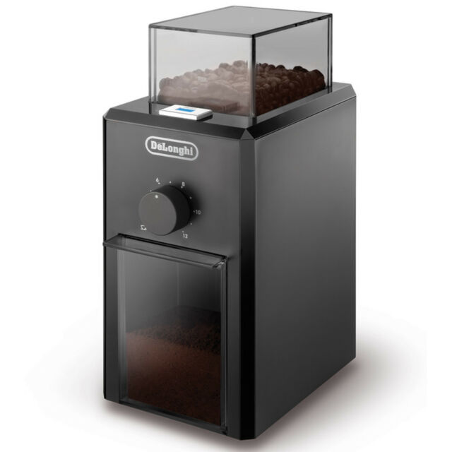 Delonghi KG79 110 Watts 16 Litres 120g Burr Coffee Grinder in Black New