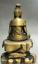 8-034-Old-Tibet-Buddhism-Bronze-Free-Kwan-Yin-Bodhisattva-On-Stone-GuanYin-Statue miniature 11