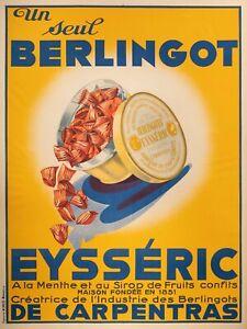 Affiche-Originale-Berlingot-Eysseric-Carpentras-Bonbon-Confiserie-1930