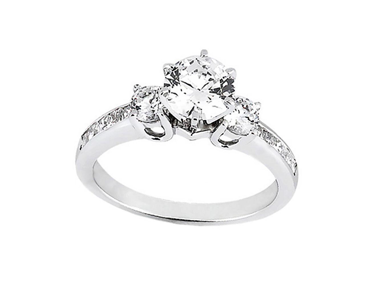 Genuine 1.25Ct Round Princess Round Cut Diamond Engagement Ring 14k gold IJ I1