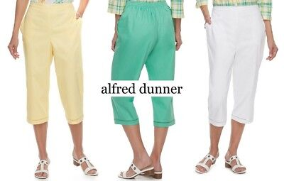 Alfred Dunner Petite Classics Pull-On Straight-Leg Pants NWT *d