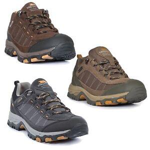 Trespass-Scarp-Mens-Walking-Waterproof-Trainers-Hiking-Shoes-in-Brown-amp-Grey