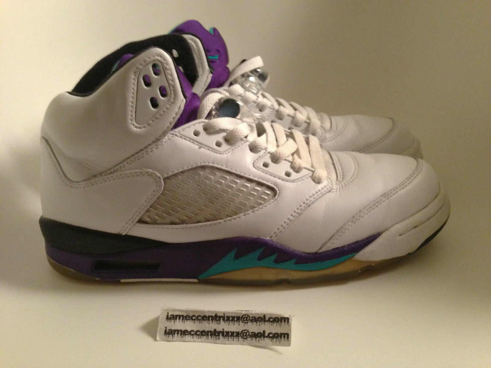 NIKE Air Jordan V 5 LS Retro Grape Grapes DMP US 8 NEW GMP Laser BIN III 1 2 3 4