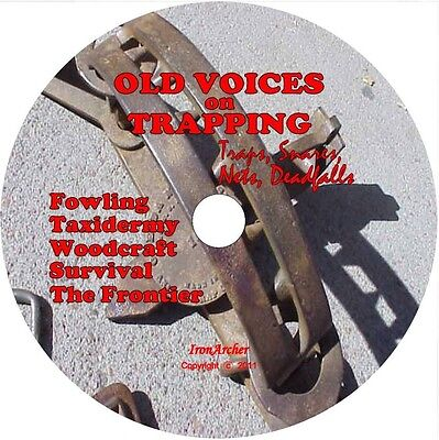 Wilderness Survival,TRAPPING,TAXIDERMY,Trap,Snare,Deadfall, Fowling,FRONTIER, CD