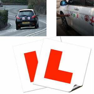 2 x L Plate Learning Plates Car Plates