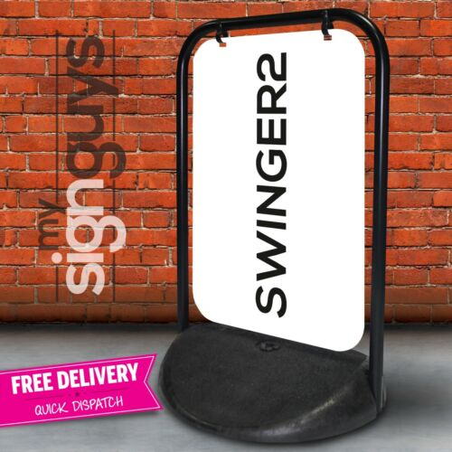 Swinging Pavement Sign Outdoor Advertising Shop A-Board Swinger 2 BRAND NEW